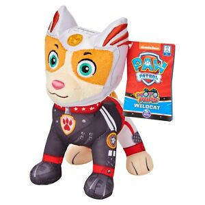 """PAW PATROL WILDCAT PLUSH 8"""" OFFICIAL MOTO PUPS NEW WITH TAGS"""