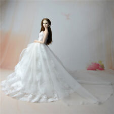 White Fashion Party Dress/Wedding Clothes/Gown For Barbie Doll S801