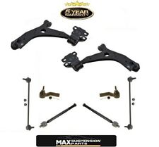 8 Pcs Kit For 2010 - 2013 Mazda 3 Sport Lower Control Arms LInks Tie Rods