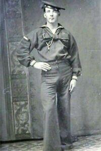 POSTCARD Print / 19th century handsome sailor with bulge
