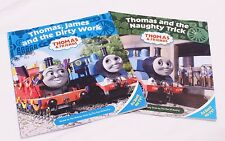 THOMAS THE TANK BOOKS SET OF 2 THOMAS JAMES & THE DIRTY WORK + THE NAUGHTY TRICK