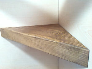 CORNER SHELF - Vintage style Solid Wood - GEORGIAN MAHOGANY - 40CM WIDE