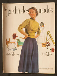 'LE JARDIN DES MODES' FRENCH VINTAGE MAGAZINE NEW YEAR ISSUE JANUARY 1949