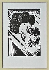 John Nash RA (1893-1977) Original Wood Engraving Ltd Ed. Mounte  [lk Paul ]