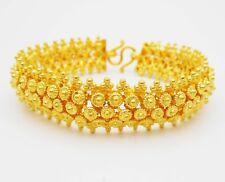 """22K 24K THAI BAHT YELLOW GOLD GP Pikun Flower Bracelet Bangle Women Jewelry 7"""""""