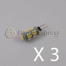3 x Glühbirne G4 9 Led SMD Weiß Warm 145 Lumen 12V DC wohnwagen, boot, auto