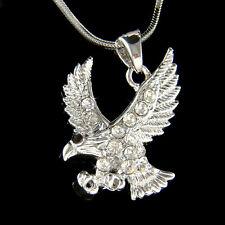 w Swarovski Crystal EAGLE American Bird Hawk Bird Pendant charm Necklace Jewelry