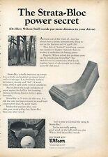 "1966 Wilson  Vintage Golf 'Wood' Clubs ""Strata-Bloc"" Power PRINT AD"