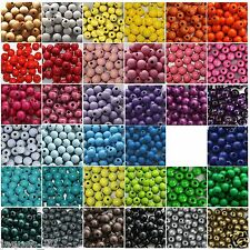 50 Holzperlen zum Fädeln / 10 mm / Speichelfest / Farbwahl