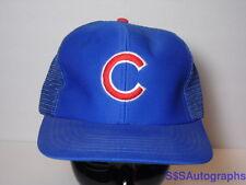 Vintage 1980s Chicago Cubs Major League Baseball Advertising Snapback Hat M/L