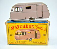 "Matchbox RW 23C Bluebird Caravan metallicbraun graue Räder in ""D"" Box"