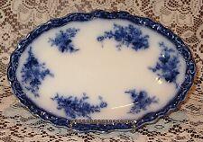 "Henry Alcock TOURAINE Flow Blue 10"" Oval Serving Platter, c. 1898"