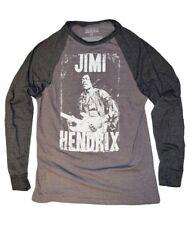 """RIPPLE JUNCTION MENS """"JIMI HENDRIX"""" BASEBALL STYLE LONG SLEEVE MED TEE NEW"""