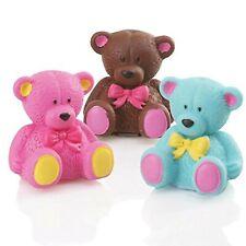 Set of 3 Lip Glosses Novelty Lip Balm 3 Colours of Teddy Bears Fun Gift