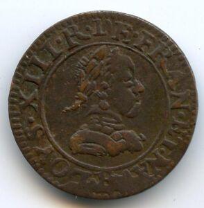 Louis XIII Double tournois 1618 R Saint André de Villeneuve lès Avignon