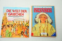 Bücherpaket 2x Wissensbücher für Kinder/Jugend, Indianer, Die Welt der Griechen