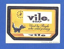 1973 Topps Original  Wacky Packages 2nd Series Vile Soap  tan back