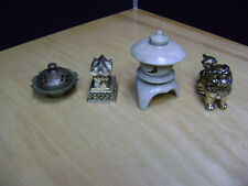 LOT OF CHINESE ASIAN INCENSE BURNERS CANDLE HOLDERS ACCESSORIES