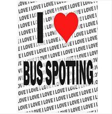 Me encanta Bus Manchado-A3 Poster-Regalo Cumpleaños Navidad Stocking Relleno