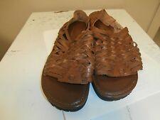 Karen Scott Womens Brown Slingback LEATHER Sandals 7.5 NEW