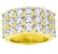 5.64 ct Round Brilliant DIAMOND Wedding Ring Mens 14k Yellow Gold Band G SI1