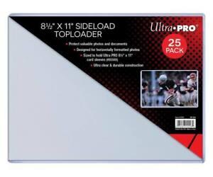 """25 Ultra PRO Poster Print Sideload Toploader 8.5 x 11"""" Toploaders Holder Loaders"""