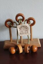 "STUMPS PUZZLE ""CAN TOU REMOVE THE BRASS RING"" LUMBER JACK TOYS TYPE P"