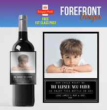 Personalised Wine bottle label,Teacher Reason you drink/ Birthday/Any occasion
