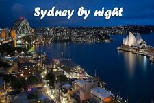 SOUVENIR FRIDGE MAGNET of SYDNEY BY NIGHT