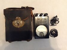 Antique Vintage Weston Electrical Instruments Ohmmeter Model 689 Type 1F & Case
