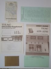 New listing Teac A-170 A-170S Stereo Cassette Deck Owners Manual and Paperwork