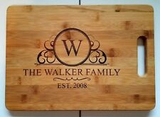 Personalized Family Lastname Date Bamboo Cutting Board Wedding Christmas Gift