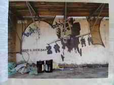Banksy Happy Choppers Wall A3 Sign Aluminium Metal Large