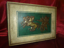 Vintage LUTTI Confectionery Tin - Chariot & Horse design - Embossed leather look
