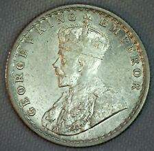1936 India British Half Rupee Silver Coin AU Almost Uncirculated 1/2 Rupee Coin