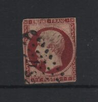 "FRANCE YVERT 18a "" NAPOLEON III 1F CARMIN FONCE "" OBLITERE SIGNE A VOIR T996"