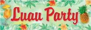 Pineapple Punch Cocktail Summer Luau Pool Party Decoration Giant Plastic Banner