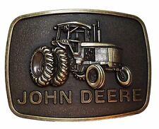John Deere Tractor Logo Antique Bronze Metal Belt Buckle