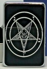 SATANIC PENTAGRAM FLIP METAL PETROL LIGHTER
