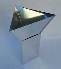 "3 SIDED PYRAMID   6""  PILLAR CANDLE MOLD"