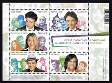 2014 Canada SC# 2772 Great Canadian Comedians - Souvenir Sheet Lot 112 M-NH