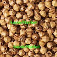 20 x wooden natural wood bicone stripe beads 16mm x 15mm large big hole macrame
