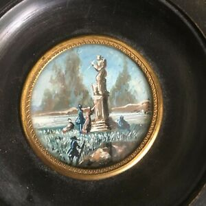 Miniature Landscape Painting, signed Binot, France, late 19th / early 20th cent.