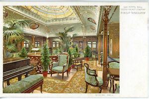 INTERIOR - Royal Mail Line's ARAGUAYA (1906) - 1st Class Social Hall