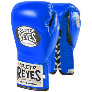 Cleto Reyes Safetec Professional Boxing Fight Gloves - Blue