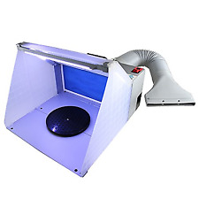 Ophir Portable Hobby Airbrush Spray Booth Exhaust Filter Extractor Set With LED
