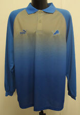 DETROIT LIONS MEDIUM POLO SHIRT VINTAGE RETRO VTG STITCH MENS NFL FOOTBALL PUMA