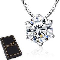 Zirkonia Kette Halskette 925 Sterling Silber Damen ❤ Swarovski® Kristalle + ETUI