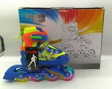 Size S31-34 C-Luo Light Up Inline Kids Skates