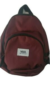 VANS Off The Wall GOT THIS MINI BACKPACK Travel Play Beach Mall Purse RED